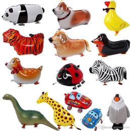kuh geschenke großhandel Rabatt Großhandel Walking Pet 10 Tiere gemischt Aluminiumfolie Ballon Automatische Dichtung Kinder Ballon Geschenk Kuh Zebra Schildkröte Geburtstagsfeierversorgungen