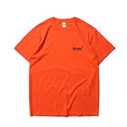 2019 arrow camicie Maglietta Soild 2019 della maglietta di Soild degli uomini della freccia di ADER stampata maglietta casuale del cotone di base degli uomini di Hiphop Streetwear per estate arrow camicie economici
