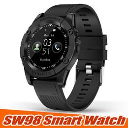 Argentina Nuevo reloj inteligente SW98 Bluetooth Reloj inteligente Pantalla HD Motor SmartWatch con podómetro Mic de cámara para Android IOS PK DZ09 U8 en caja cheap smart mic Suministro