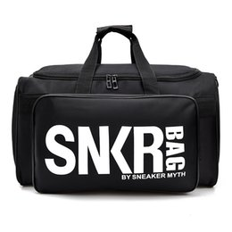 2019 grandi borse nere Nuova borsa da viaggio di design SNKR 19ss Borsa da donna di design da uomo nero Borsa da viaggio di grande capacità bianca da viaggio grandi borse nere economici