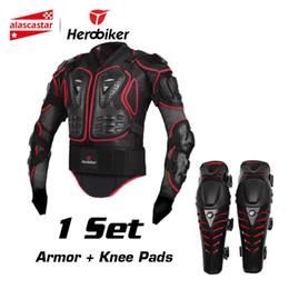 ginocchiere per armature Sconti HEROBIKER Giacca da equitazione da moto per motociclista + Ginocchiere Motocross Enduro fuoristrada ATV Racing Set di protezioni per protezioni per il corpo