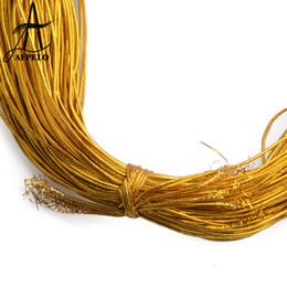 extensiones de cabello roscadas Rebajas Comercio al por mayor 1mm Oro Plata Ronda Cuerda de Caucho de Goma Elástica Cuerda Cuerda Hilo Extensión del pelo Hilo Accesorios para el cabello Herramientas