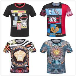 2019 chemises en jersey de coton Méduse pour hommes T-shirt pour hommes à manches courtes en coton extensible T-shirt en jersey brodé pour hommes avec un tigre imprimé collier serpent pour hommes chemises en jersey de coton pas cher