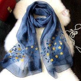 Sciarpa per le donne 2018 nuovissimo modo della signora avvolge di lusso di alta qualità cucito fiori di seta misto di lana pashmina all'ingrosso LSF064 da