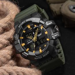 2019 horloge numérique extérieure imperméable à l'eau Montres de sport pour hommes en gros LED numérique sport militaire montre-bracelet masculin 2019 bracelet en caoutchouc imperméable à l'eau en plein air étudiant horloge livraison gratuite horloge numérique extérieure imperméable à l'eau pas cher