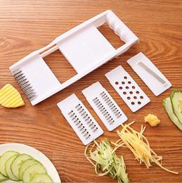 Новый Mandoline Slicer Ручной Овощерезка с 4 лезвиями Картофельная Терка Морковь для Овощерезки Лука Slicer Кухонные Принадлежности supplier potato vegetable slicer от Поставщики овощной картофель для картофеля