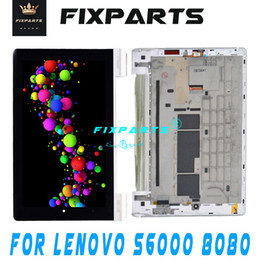 Pantalla táctil para tablet lenovo online-10.1 original Lenovo Yoga B8080 B8000 Tablet 10 / B8080 S6000 + LCD + pantalla táctil digitalizador del sensor completo Asamblea Tablet Pc
