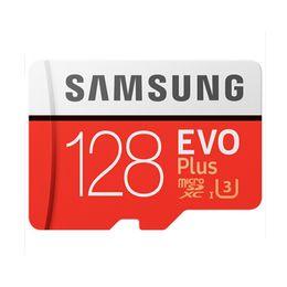 memoria flash usb de memoria de 128 gb Rebajas Venta de fábrica Samsung Original EVO + Tarjeta de memoria 32GB MB-MC32G EVO más U3 128GB 256GB Class10 SDHC SDXC CCTV Cámara Tarjeta de memoria