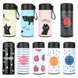 water bottle for kids wholesale Coupons - Fashion 350ml Stainless Steel Tumbler Safety Non Toxic Tea Cup For Children Kids Water Bottle Multi Colors 13my BB