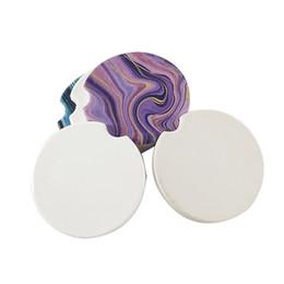 Venda quente de Alta Qualidade Em Branco Sublimação Cerâmica Carro Coasters Para Impressão Por Sublimação Pode Personalizar Seu Próprio Projeto de