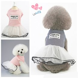 Vêtements jupes en Ligne-Strip Dog Costume Jupe Chiens Vêtements Puppy Pantalons Couleurs Muti Cat Dress Up Chien animal Vêtements Fournitures pour animaux 13BD C2