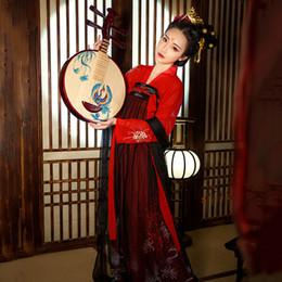 chinesische trachten frauen Rabatt Neue ankunft hanfu frauen chinese dance kostüm traditionelle bühnenkleidung für sänger orientalische leistung kleidung volkskleid dc1810