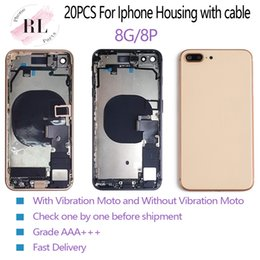 iphone bezel wholesale Coupons - 20PCS Perfect back cover for iPhone 8 8 Plus half frame chassis bezel for the rear battery body cover housing with Flex Cable