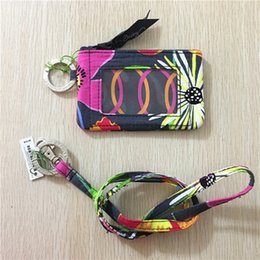 marca delle donne di cotone Portamonete piccolo portafoglio id cassa del supporto cordino da maniche in metallo fornitori