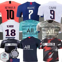 2019 camiseta de fútbol de tailandia al por mayor Maillots de foot 19 20 PSG camiseta de fútbol 2019 2020 Mbappé Marquinhos ANDER HERRERA Camisetas de fútbol NAVAS Icard formación camisa PSG X AJ