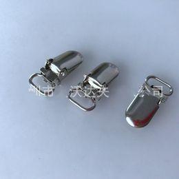 Clip metalliche online-Metal Suspender Clips Placca Mini Paci Ciuccio Clip Home Pratico Foglio Fibbia Ferro Semplice Alta Qualità 0 28aw D1
