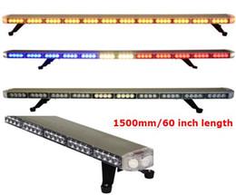 Стробоскопия онлайн-Бесплатная доставка 1500 мм / 60 дюймов высокое качество тонкий led lightbar крыши автомобиля вспышки стробоскопа аварийного восстановления грузовик стробоскопа lightbar