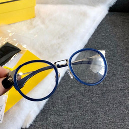 2019 großhandel runde bilderrahmen F0023 Brillengestell klare Linse Herren- und Damenbrille Myopiebrille Retro oculos de grau Herren- und Damenbrillen mit Myopiebrille 0023