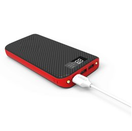 carregador de telefone de alta capacidade Desconto Portátil 24000 mah banco de potência 3 usb led light carregador de bateria de backup para iphone xr max x 8 samsung android telefone de alta qualidade