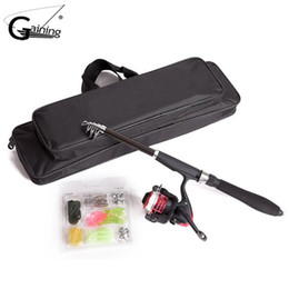 gear for rod Promo Codes - Fishing Rod Combo Fishing Rod Reel Combo Full Kit Gear +Spinning Reel +Lures Hooks with Bag for