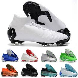 2018 Mercurial Superfly VI Chaussures De Football En Cuir Tricoté Cr7 Chaussures Crampons De Football Botas Chaussures de Soccer Taille 39-46 ? partir de fabricateur