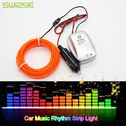 medidor de luz sonora Desconto 2 Metros / Atmosfera PCS porta do carro Decoração Música Rhythm Flash Light EL Faixa fria da lâmpada som da música Voice Activated Light Strip
