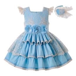 Festa di partito abiti online-Pettigirl Summer for Girls Dress Lace Bambini Wedding Princess Party Bambini Porno Abiti eleganti Abiti 2019 G-DMGD203-29