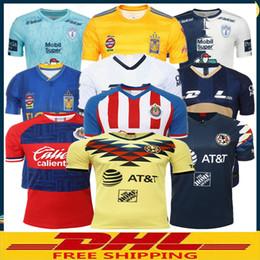Lotto jersey online-DHL LIBERA il trasporto 2019 2020 LIGA MX Club America maglie di calcio 19 20 UNAM Chivas Tigres PachucaCF pullover di calcio Dimensione può essere misto lotto