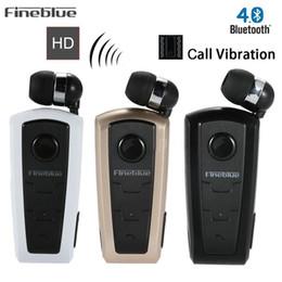 auricular bluetooth fineblue Rebajas Fineblue F910 Mini auriculares inalámbricos inalámbricos Bluetooth para auriculares Auriculares con vibración Alerta de desgaste Clip de manos libres para teléfono Muy cómodo