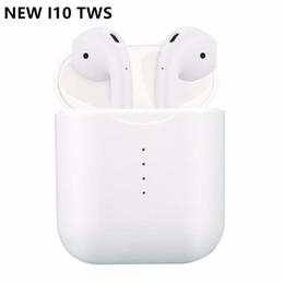 Canada Nouveau i10 Tws Sans fil Bluetooth 5.0 Écouteurs Écouteurs Auto Allumer / éteindre le chargement sans fil avec Mic Boîte de chargement pour Android iPhone iPad Offre