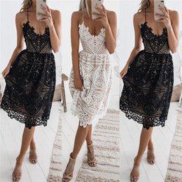 Летнее платье вязания крючком онлайн-Vintage лета женщин кружева крючком платье 2018 Мода Lady рукавов платья подтяжк партии вечера Короткое мини-платье Vestidos