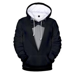 feitong 2018 NOUVEAU Femmes Hommes Costume Motif 3D Imprimer hommes veste en cuir d'hiver À Manches Longues Casquettes Sweat Pullover Tops Blouse #B ? partir de fabricateur