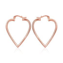 bijoux antiallergiques Promotion Nouveau mode gratuit antiallergique Real Rose Gold Heart Clip boucles d'oreilles pour les femmes bijoux KE1058-B