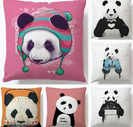 2020 bebé eco algodón Lindo Panda Funda de almohada Lindo y encantador Bebé Panda Funda de almohada Algodón de lino Silla Asiento y cintura Funda de almohada bebé eco algodón baratos