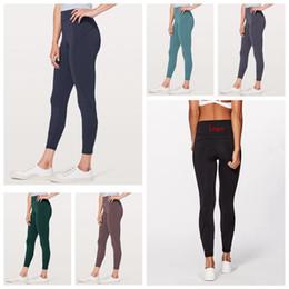 pantalones de yoga de cintura alta ajustados para niñas Rebajas Mujeres Flaco Leggings 6 Colores Deportes Gimnasio Yoga Pantalones de Cintura Alta Entrenamiento Tight Yoga Leggings Chicas Pantalones OOA6330