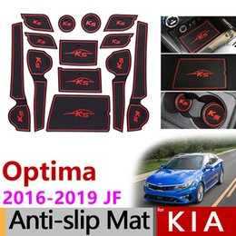 2019 аксессуары для киа Anti-Slip Rubber Mats Gate Slot Mat for KIA Optima 2016 2017 2018 2019 JF 4th Gen mk4 KIA K5 SW Accessories Stickers No Cup Mats скидка аксессуары для киа