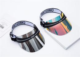 2019 marque design chapeau de soleil dazzle couleur transparent PC uv lunettes chapeau de soleil réglable taille 52-62cm hommes et femmes chapeau ? partir de fabricateur