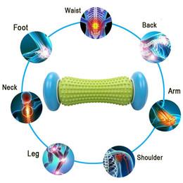 2019 punti di massaggio del piede 1X Yoga Piede Massaggio alle mani Rullo trigger Punto Tessuto profondo Terapia fisica per fascite plantare Tallone plantare Sollievo dal dolore sconti punti di massaggio del piede