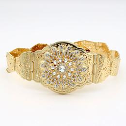 SUNSPICE MS cáucaso vestido de noiva Vintage Belt mulheres cintura nupcial cadeia de cristal oco flor metálica ajustar comprimento jóias de Fornecedores de projetos colheita tops