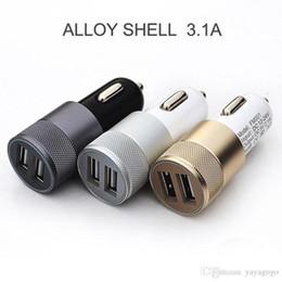 li ион зарядное устройство Скидка Оптовая Новый 2-портовый USB Универсальное автомобильное зарядное устройство для IPhone6 / 6S / 5 IPod / Ipad Samsung E30