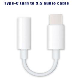 aux kabeltypen Rabatt Für USB-C-Version Typ C auf 3,5-mm-Kopfhöreranschlussadapter 10 cm AUX-Audiokabel für Mobiltelefone