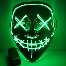 Festival Cosplay Kostüm Karanlıkta parlayan Malzemeleri Cadılar Bayramı Partisi Masque Masquerade Maskeler Neon Maske Işık Komik Maskeler Maske Işık Led nereden klasik basit kolye tedarikçiler