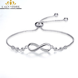 2019 bracelets infinis pour couples Bracelets Infinity réglables luxueux en argent sterling luxueux réglés homme / Femme bracelets chainink pour femme / homme / couple bracelets infinis pour couples pas cher