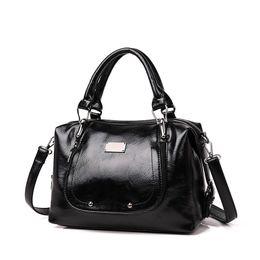 Deutschland Neue Art- und Weisefrauen-Handtaschen-weiche PU-lederne Schulter-Beutel-Dame Large Capacity Solid Multi Color Female beiläufige Einkaufstasche Versorgung