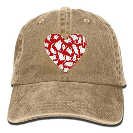 2019 New Custom Baseball Caps Print Hat Cat Heart2 Mens Cotton Adjustable  Washed Twill Baseball Cap Hat ebee36304aa1
