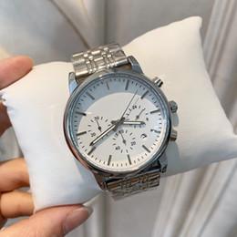 Regalo de japon online-De calidad superior para hombre relojes de pulsera de cuarzo de acero inoxidable Japón Movimiento Relojes Relojes de lujo Relojes de pulsera Reloj de regalo de Good Man relojes