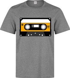 obra de arte amarilla Rebajas Camiseta gris de Cassette Artwork Hipster Vintage para hombre (mujer disponible) gris