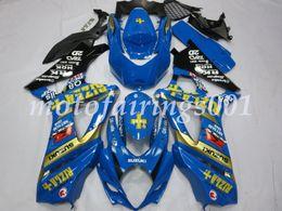 Kits de carenado rizla online-Nuevos kits de carenados de bicicleta de motocicleta ABS aptos para Suzuki GSXR1000 K7 GSX-R1000 2007 2008 juego de carrocería personalizado Carenado Rizla