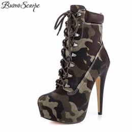 635aa858f0adc2 high heel plattform stilett Rabatt BuonoScarpe Neue Plattform High Heels 15  cm Stilettos Mode Camouflage Stiefeletten