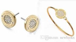 3 Farben Strass Legierung Ohrringe Schmuck Ohrringe Sets Mode Ohrstecker Schmuck Mode Ohrringe Halskette von Fabrikanten